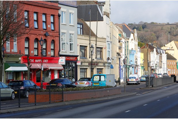 Fed up business owners along Snargate Street in Dover, who have lost thousands of pounds of revenue due to Operation Stack. General views of Snargate Street. Snargate Street, Dover. Picture: Andy Jones