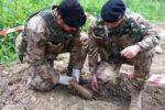 Intervento artificieri Esercito nel cosentino