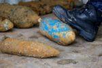 ©PHOTOPQR/VOIX DU NORD - Arras, le 19 Février 2015. Démineurs de la Sécurité Civile d'Arras. Service de déminage du ministère de l'interieur qui risque sa vie au quotidien. Alerte à la bombe, colis suspect, bombes et obus de la Première et de la Seconde Guerre mondiale... PHOTO JOHAN BEN AZZOUZ LA VOIX DU NORD (MaxPPP TagID: maxnewsworldthree691152.jpg) [Photo via MaxPPP]