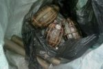 Patgaon: IED explosive and hand grenades recovered by police on Friday at Patgaon in Guwahati. PTI Photo(PTI8_13_2016_000103B)