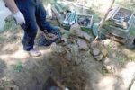 ?2.6.2016.Na vojnom poligonu Gašinci policajci uništili oko 700 kilograma eksplozivnih sredstava, pronaðenih ili dragovoljno predanih bombe, bomba, zolja, oružje, tromblon  foto:MUP   ------ crna 3 st