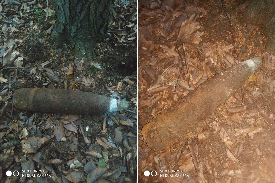 z25132811V,Niewybuch-znaleziony-w-lesie