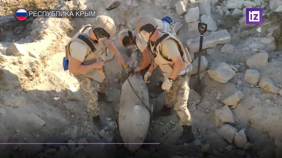 В Керченской Крепости нашли бомбу0