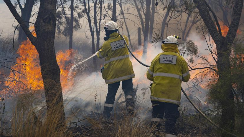 Red Gully fire